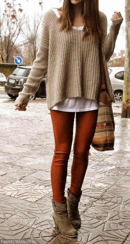 How to Wear Brown Leggings (6 looks) | Women's Fashion