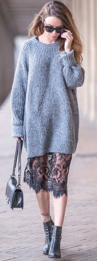 Tiered Sweater Dress