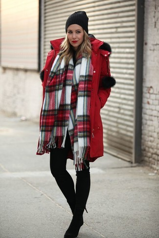 Parka leggings boots