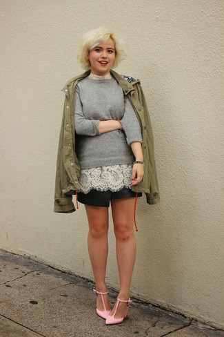 Gretta Raglan Lace Sleeve Pullover