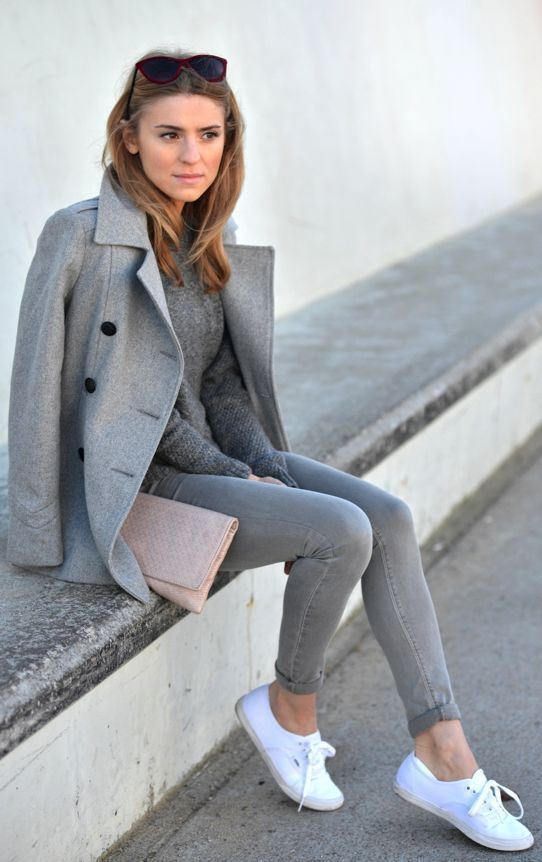 How to Wear a Charcoal Pea Coat (10 looks) | Women&39s Fashion
