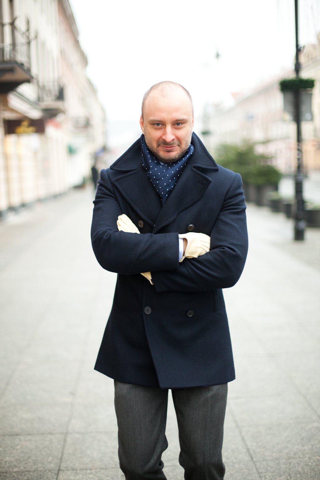 How To Wear a Pea Coat With a Navy Scarf | Men's Fashion