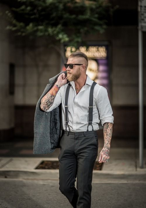 How To Wear Black Suspenders 22 Looks Outfits Mens Fashion