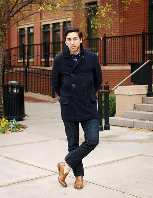 Navy Pea Coat | Men's Fashion
