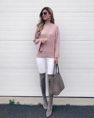 d829407df61 ... Women s Pink Crew-neck Sweater
