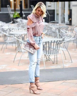 9062a8f7c4de6 ... Women s Pink Floral Long Sleeve Blouse