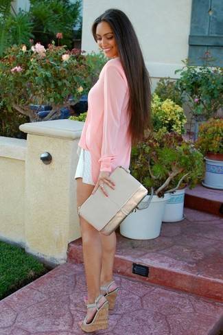 Long Sleeve Blouse And Shorts 8