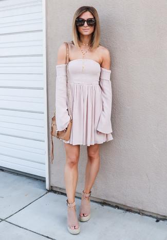 11bf6aef68fb ... Women s Pink Off Shoulder Dress