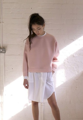 Pink Studs Sweatshirt