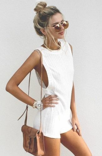 Gate Small Textured Leather Shoulder Bag