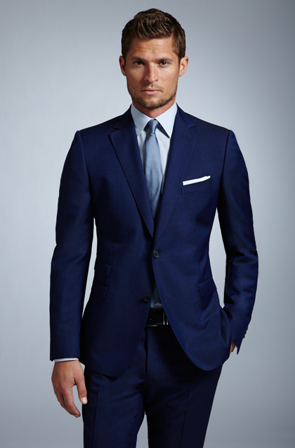 The gallery for dark navy blue shirt with tie for Shirt color navy suit