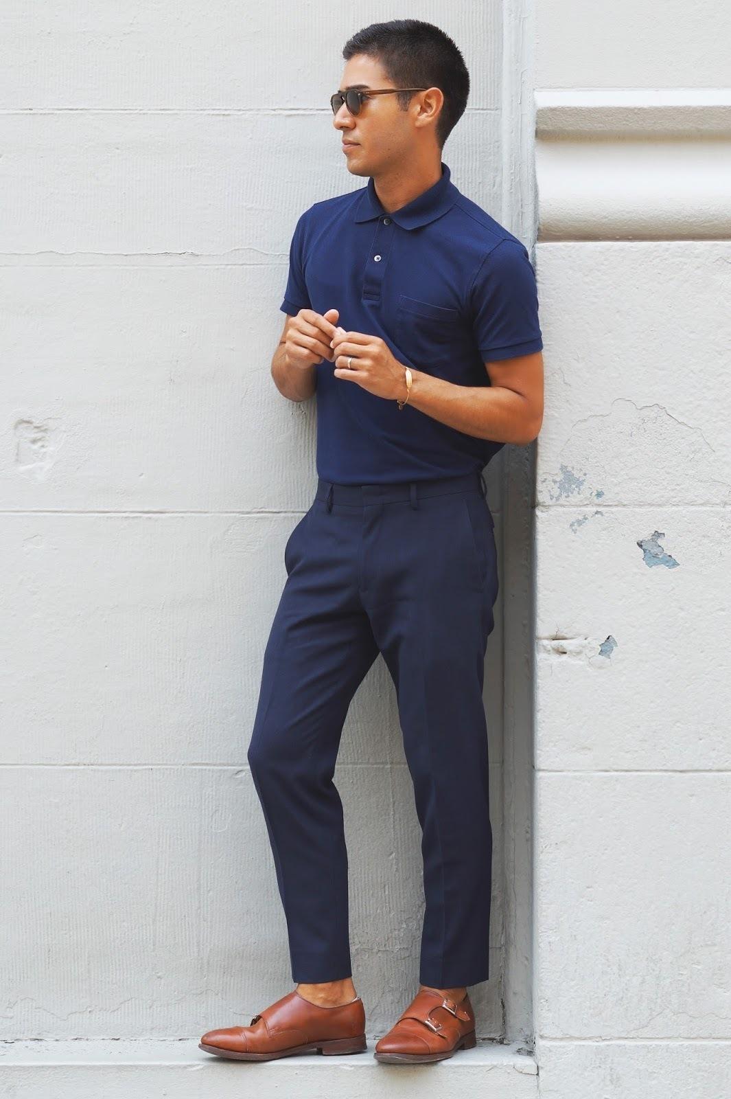 Tenue avec pantalon blanc fashion designs - Que porter avec un pantalon bleu marine ...