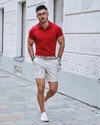 White Shorts with Red T-shirt Outfits For Men (6 ideas & outfits ...