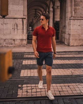Striped Hem Shorts