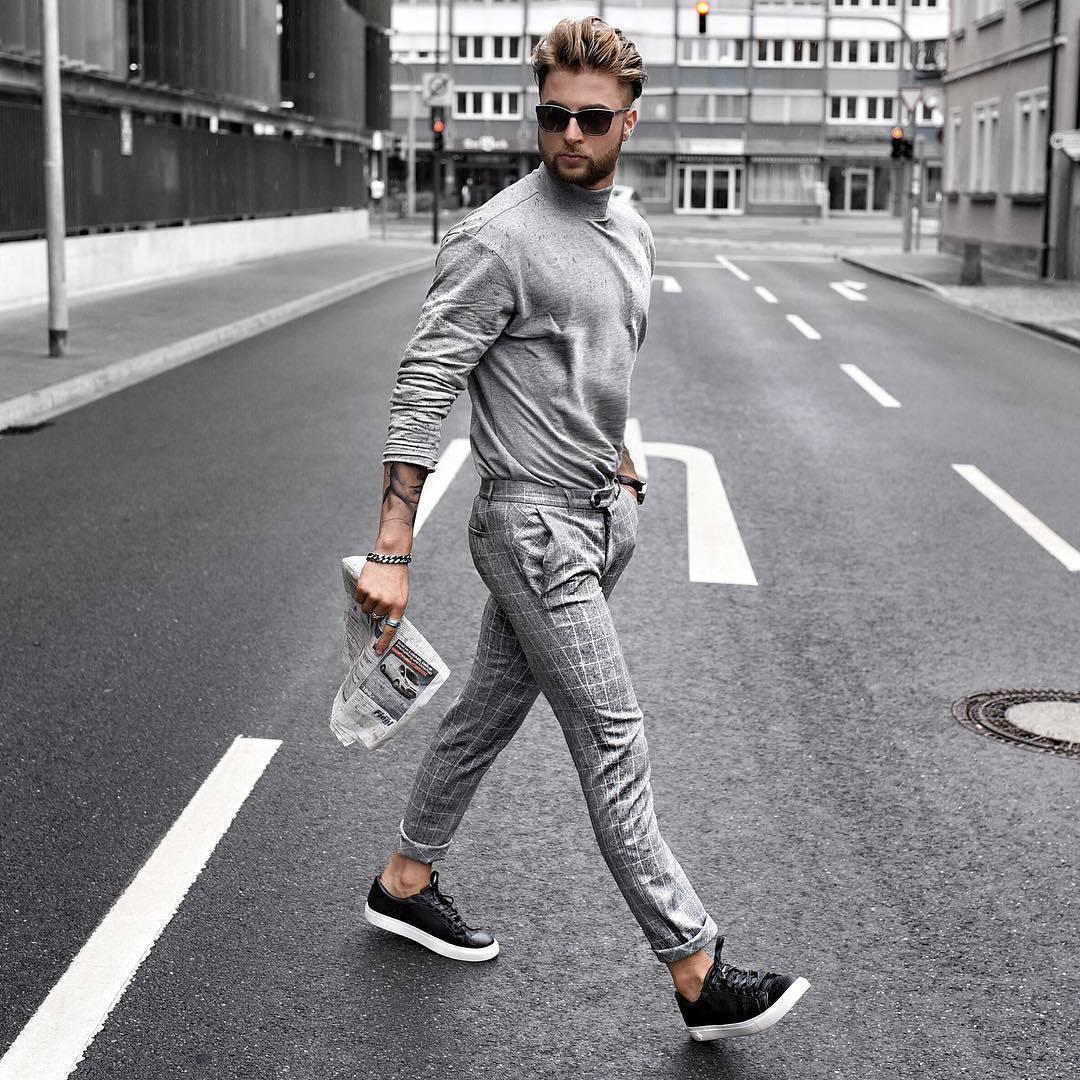 Porter Chino Carreaux Gris 4 À Comment Pantalon Tenues Un Mode HdtXHqU