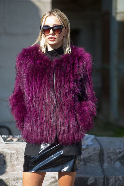 How to Wear a Light Violet Fur Coat (7 looks)   Women's Fashion