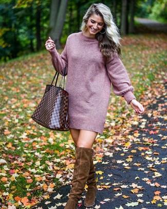 66c97ab713 ... Women s Purple Sweater Dress