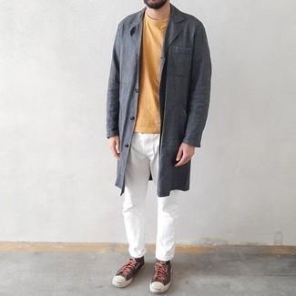 Long Brand Raincoat