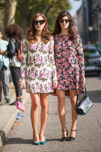 325cfc754b How to wear Torrid Floral Print Pleated Tank Dress