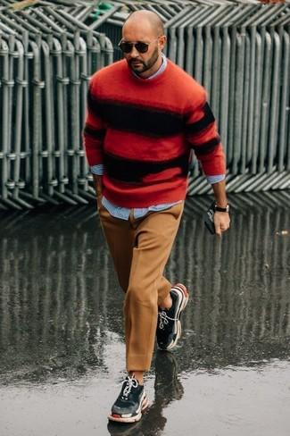 Stripe Pima Cotton Oxford Sport Shirt