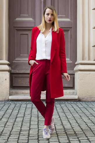 ce4a59e6583e ... Women s Red Coat