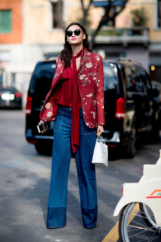 Flared Jeans With Appliqu