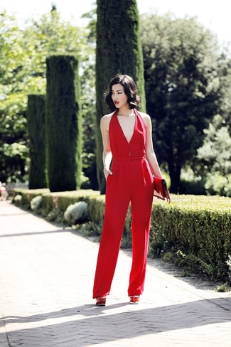 Short Sleeve Wrap Jumpsuit