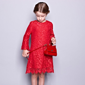 Girls' Looks & Outfits: What To Wear In a Dressy Way: Go for red lace dress for your little fashionista and her cute factor will be off the roof.