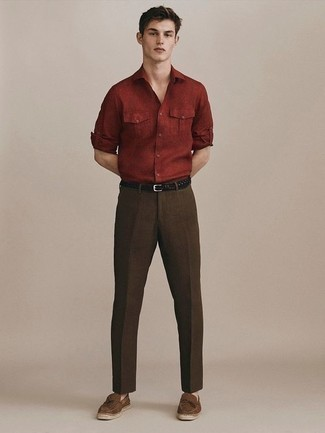 Centaur Roll Sleeve Woven Shirt