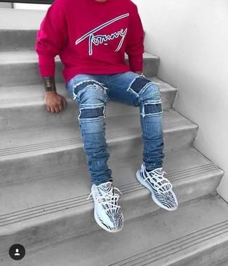 3c43e9469296 adidas 3 Stripes Fitted Sweatshirt