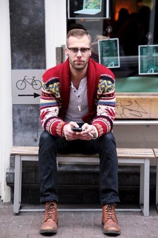 How to Wear a Fair Isle Shawl Cardigan (28 looks) | Men's Fashion