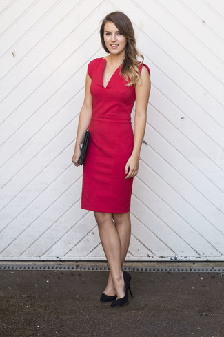 Rosella Stretch Crepe Sheath Dress