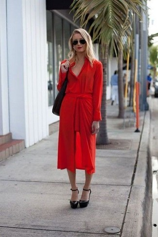 c33dc2f6689 How to wear Pendleton Palisades Linen Shirt Dress