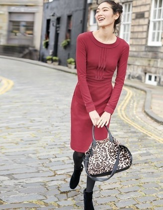 8e56974747f ... Women s Red Sweater Dress