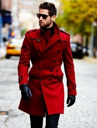 How to Wear a Red Coat (29 looks) | Men's Fashion