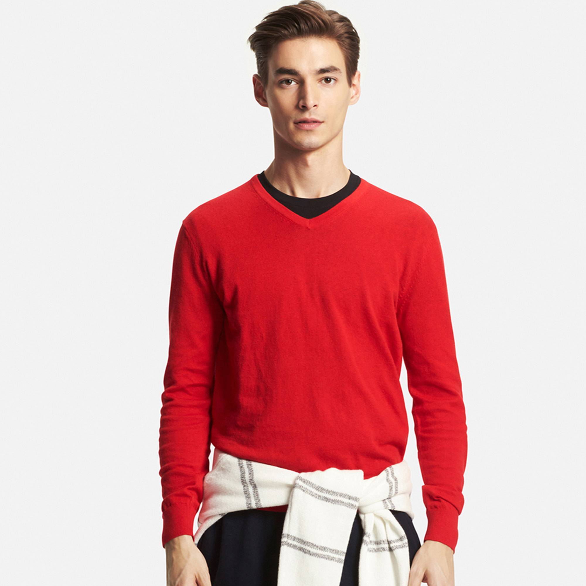 How to Wear a Red V-neck Sweater (32 looks) | Men's Fashion