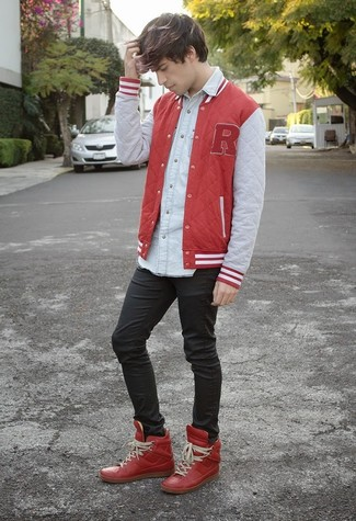 Red Future High Top Sneakers