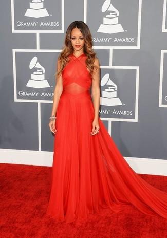 Robe de soiree rouge rihanna