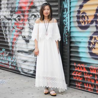 Que mettre avec une robe longue blanche