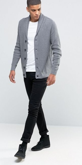 Smart black cardigan jacket