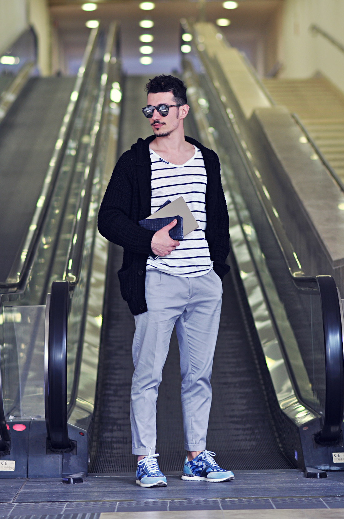 Black t shirt navy pants - Effortlessly Blurring The Line Between Elegant And Casual This Combination Of A Black Shawl Cardigan