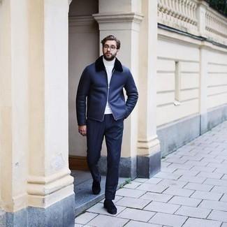 Slim Fit Suit Trouser In Royal Blue