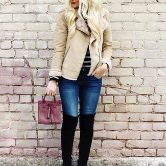 Beige Shearling More Jacket