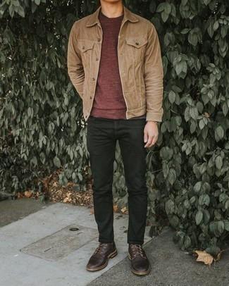 Black Mismatched Jeans