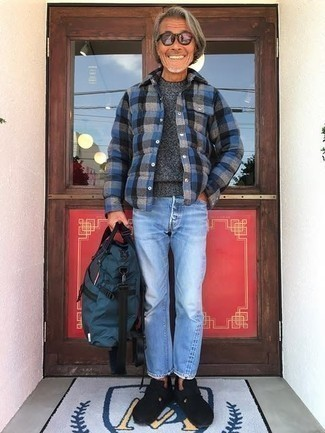 Light Blue Jeans And A Charcoal Crew Neck Sweater Outfits For Men 21 Ideas Outfits Lookastic,Dining Room Magnolia Home Furniture