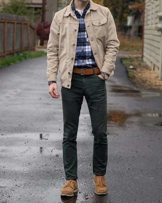 Henley Shirt Outfits For Men: For functionality without the need to sacrifice on good style, we love this combination of a henley shirt and dark green chinos. Brown suede derby shoes will easily class up even the most casual of ensembles.