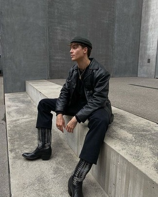 Black Cowboy Boots Outfits For Men (16