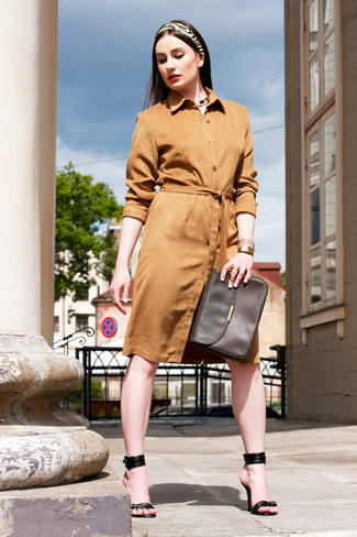 c823625b4f03 ... Women s Tan Suede Shirtdress