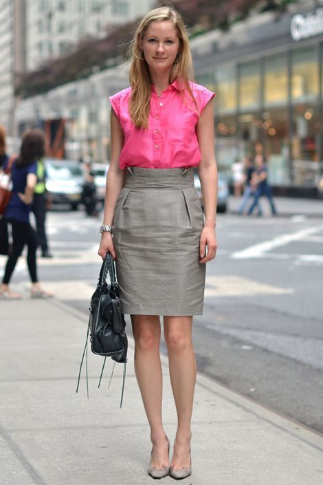 How to Wear a Grey Pencil Skirt (59 looks) | Women's Fashion