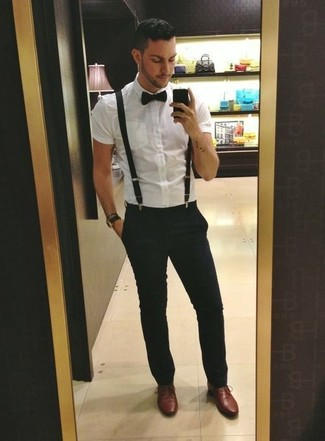 How To Wear A White Short Sleeve Shirt With Black Dress Pants For